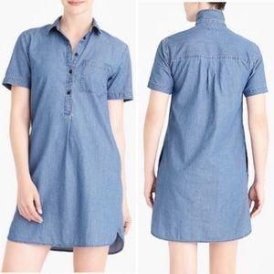 J. Crew mercantile blue chambray shirt dress XL